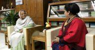 রাষ্ট্রপতি ও প্রধান মন্ত্রীর সাথে টাওয়ার হ্যামলেটের স্পিকের সাবিনা আক্তারের সৌজন্য সাক্ষাৎ