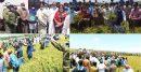 সুনামগঞ্জে মন্ত্রীর আগমনে মানুষের ঢল, মানা হয়নি সামাজিক দূরত্ব